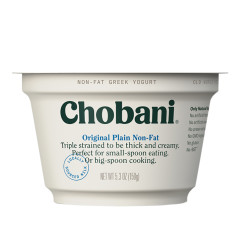 CHOBANI 0% PLAIN GREEK YOGURT 5.3 OZ