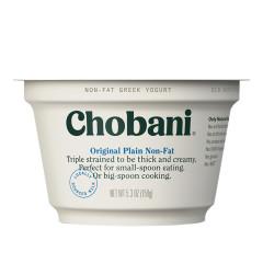 CHOBANI 0% PLAIN GREEK YOGURT 5.3 OZ