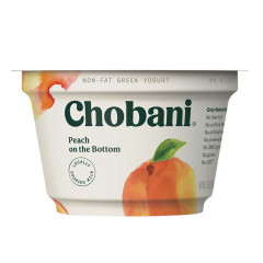 CHOBANI 0% PEACH GREEK YOGURT 5.3 OZ