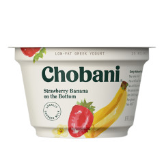 CHOBANI 2% STRAWBERRY BANANA GREEK YOGURT 5.3 OZ