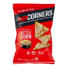 POPCORNERS SWEET & SALTY KETTLE CORN 1 OZ BAG