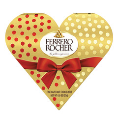 FERRERO ROCHER VALENTINE HEART 2 PC 0.9 OZ BOX