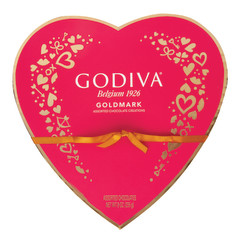 GODIVA 20 PC HEART 7.5 OZ BOX