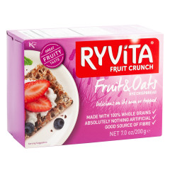RYVITA FRUIT AND SEED CRUNCH CRISPBREAD 7 OZ BOX