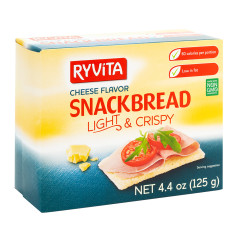 RYVITA LIGHT AND CRISPY CHEESE SNACKBREAD 4.4 OZ