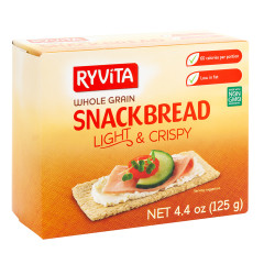 RYVITA LIGHT AND CRISPY WHOLEGRAIN SNACKBREAD 4.4 OZ