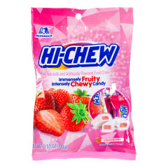 HI-CHEW STRAWBERRY 3.53 OZ PEG BAG