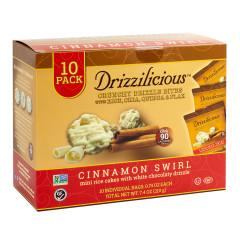 DRIZZILICIOUS DRIZZLE BITE CINNAMON SWIRL 7.4 OZ BAGS 10 CT