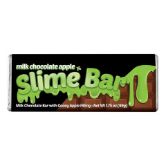 AMUSEMINTS MILK CHOCOLATE APPLE SLIME BAR 1.75 OZ BAR