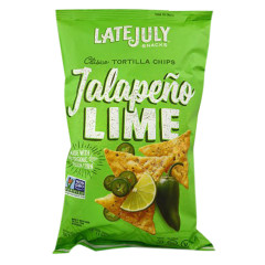LATE JULY JALAPENO LIME CLASSICO CHIPS 5.5 OZ BAG