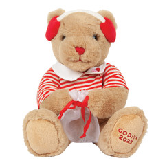GODIVA VALENTINE'S DAY PLUSH WITH MILK CHOCOLATE 1.1 OZ