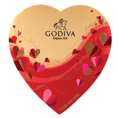 GODIVA 14 PC HEART 6.2 OZ BOX