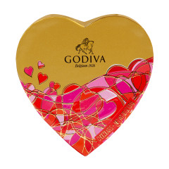GODIVA 6 PC MINI HEART 1.1 OZ BOX