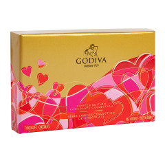 GODIVA 6 PC VALENTINE 2.3 OZ BOX