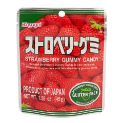 KASUGAI STRAWBERRY GUMMY CANDY 1.76 OZ POUCH