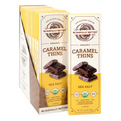 BLISSFULLY BETTER SEA SALT CARAMEL THINS 1.6 OZ