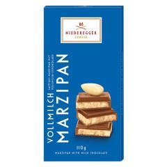 NIEDEREGGER CLASSIC MILK CHOCOLATE MARZIPAN 3.88 OZ BAR