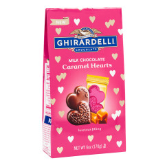 GHIRARDELLI MILK CHOCOLATE CARAMEL HEARTS 6 OZ BAG