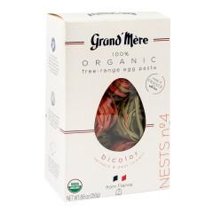 GRAND MERE ORGANIC PASTA NESTS #4 BICOLOR 8.8 OZ BOX