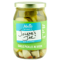 JOLENE'S JAR GARLIC PICKLES WITH A KICK 15 OZ