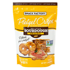 PRETZEL CRISPS SOURDOUGH 7.2 OZ POUCH