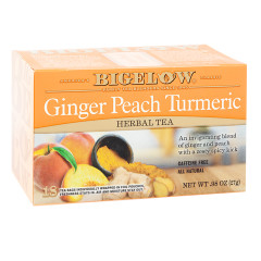BIGELOW GINGER PEACH TURMERIC TEA 18 CT BOX