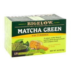 BIGELOW MATCHA GREEN TEA WITH TURMERIC 18 CT BOX