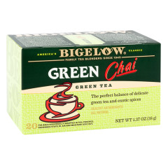 BIGELOW GREEN CHAI TEA 20 CT BOX