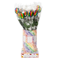COLOR SPLASH MILK CHOCOLATE RAINBOW FOIL ROSE 0.63 OZ