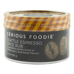 SERIOUS FOODIE ESPRESSO SPICE RUB 3 OZ *FL DC ONLY*