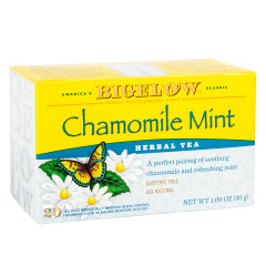 BIGELOW CHAMOMILE MINT HERB TEA 20 CT BOX