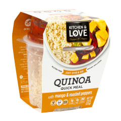 KITCHEN & LOVE READY TO EAT QUINOA MANGO & ROASTED PEPPERS 7.9 OZ