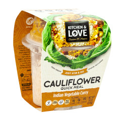 KITCHEN & LOVE READY TO EAT CAULIFLOWER INDIAN VEGETABLE CURRY 7.9 OZ