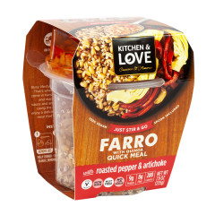 KITCHEN & LOVE READY TO EAT FARRO ROASTED PEPPER & ARTICHOKE 7.9 OZ