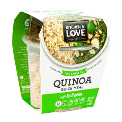 KITCHEN & LOVE READY TO EAT QUINOA BASIL PESTO 7.9 OZ