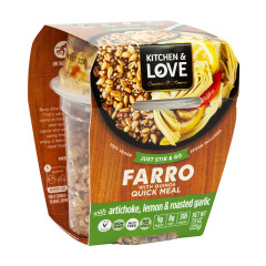 KITCHEN & LOVE READY TO EAT FARRO ARTICHOKE LEMON GARLIC 7.9 OZ