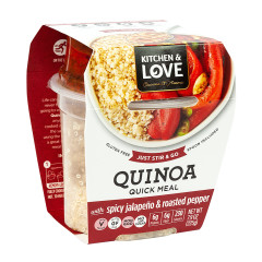 KITCHEN & LOVE READY TO EAT QUINOA SPICY JALAPENO & ROASTED PEPPER 7.9 OZ