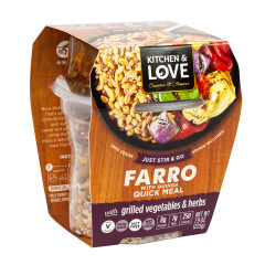 KITCHEN & LOVE READY TO EAT FARRO GRILLED VEGETABLES & HERBS 7.9 OZ