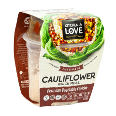 KITCHEN & LOVE READY TO EAT CAULIFLOWER PERUVIAN VEGETABLE CEVICHE 7.9 OZ