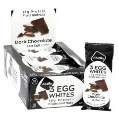 NUGO 3 EGG WHITES DARK CHOCOLATE SEA SALT BAR 1.76 OZ