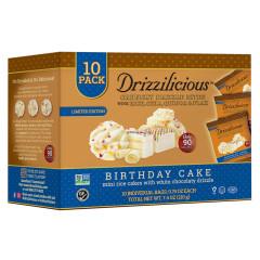 DRIZZILICIOUS BIRTHDAY CAKE DRIZZLE BITE 7.4 OZ 10 CT