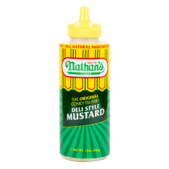 NATHAN'S CONEY ISLAND DELI MUSTARD 12 OZ SQUEEZE BOTTLE