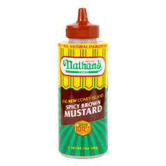 NATHAN'S CONEY ISLAND SPICY BROWN MUSTARD 12 OZ SQUEEZE BOTTLE