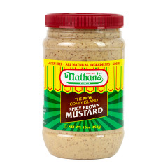 NATHAN'S CONEY ISLAND SPICY BROWN MUSTARD 16 OZ JAR