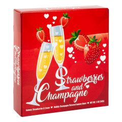 AMUSEMINTS STRAWBERRIES & CHAMPAGNE GUMMIES 8 OZ BOX