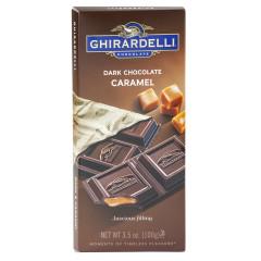 GHIRARDELLI PRESTIGE DARK CHOCOLATE CARAMEL 3.5 OZ BAR