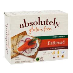 ABSOLUTELY GLUTEN FREE EVERYTHING FLATBREAD 5.29 OZ BOX