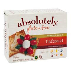 ABSOLUTELY GLUTEN FREE ONION FLATBREAD 5.29 OZ BOX