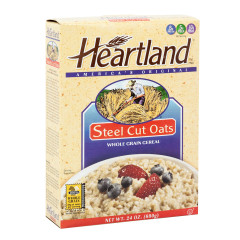 HEARTLAND STEEL CUT OATS 24 OZ BOX