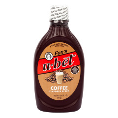 FOX'S U-BET COFFEE SYRUP 20 OZ